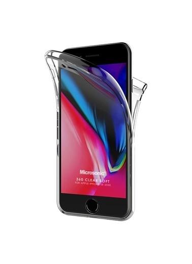 Microsonic Apple iPhone SE 2020 Kılıf 6 tarafı tam full koruma 360 Clear Soft Şeffaf Renksiz